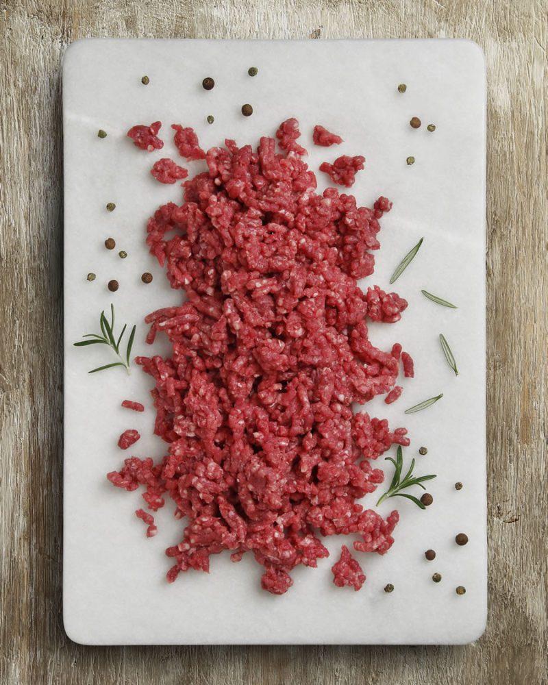Carne picada extra de Ternera con IGP Ternera Asturiana. Raza Nostra, carnicería a domicilio